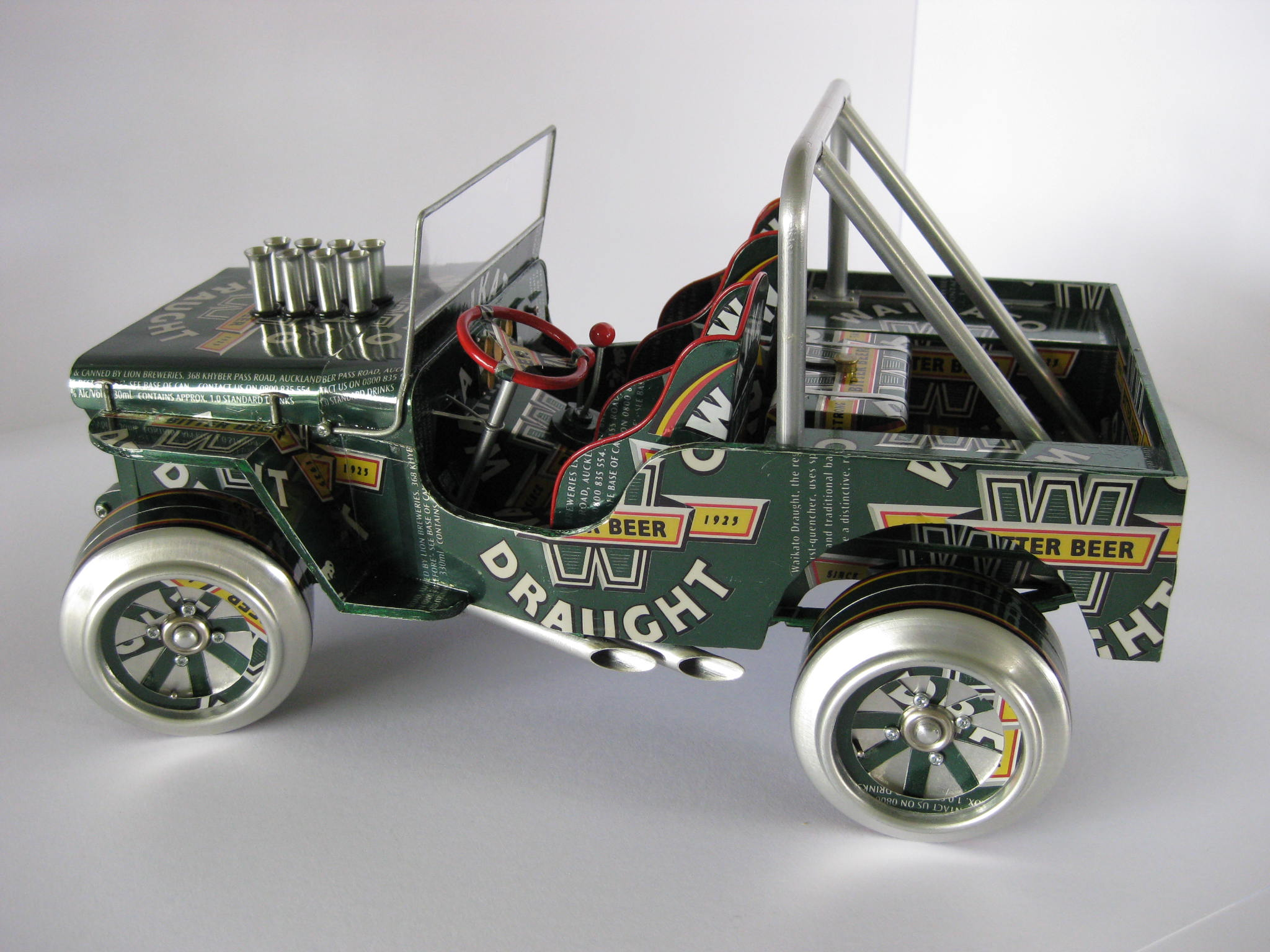 Model Cars Made From Aluminum Cans