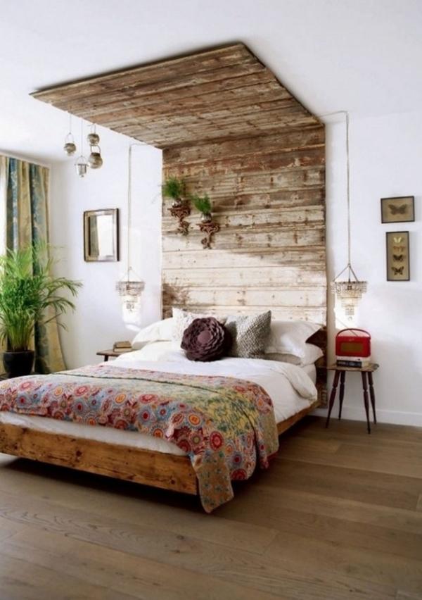 La utilización de palets dará a tus habitaciones un toque rústico o vintage