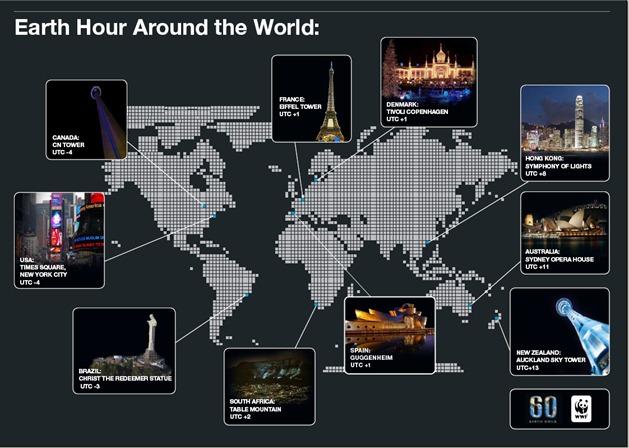 La Hora del Planeta 2012 en el mundo