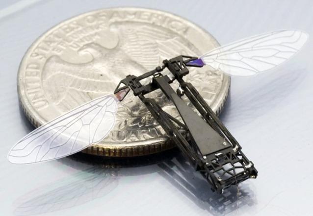 abeja robot2 Científicos de Harvard crean abejas robot polinizadoras