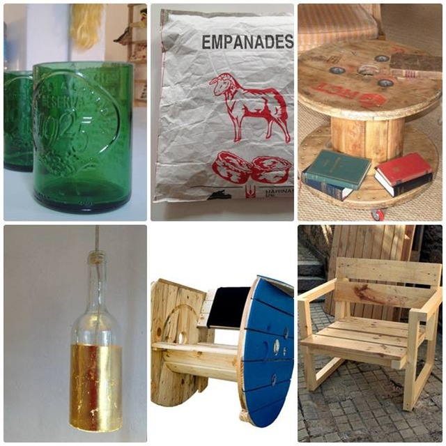 Artilujos decoraci n realizada con materiales reciclados for Decoracion reciclaje muebles