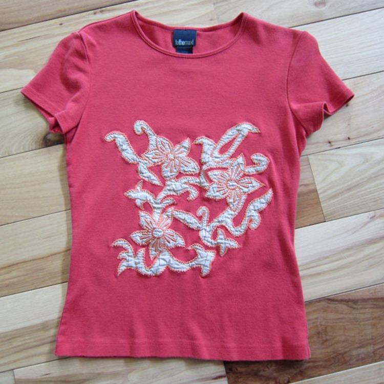 Como hacer una bolsa de tela con una camiseta Paso1
