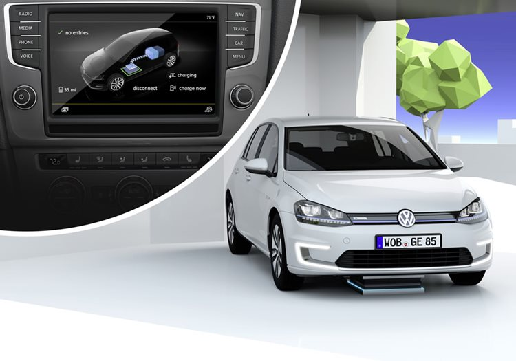 e-Golf Intelligent Charge - carga por inducción