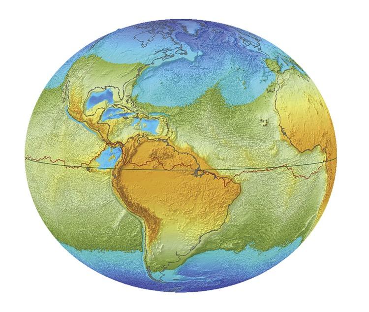 Así veríamos la tierra si dejase de girar