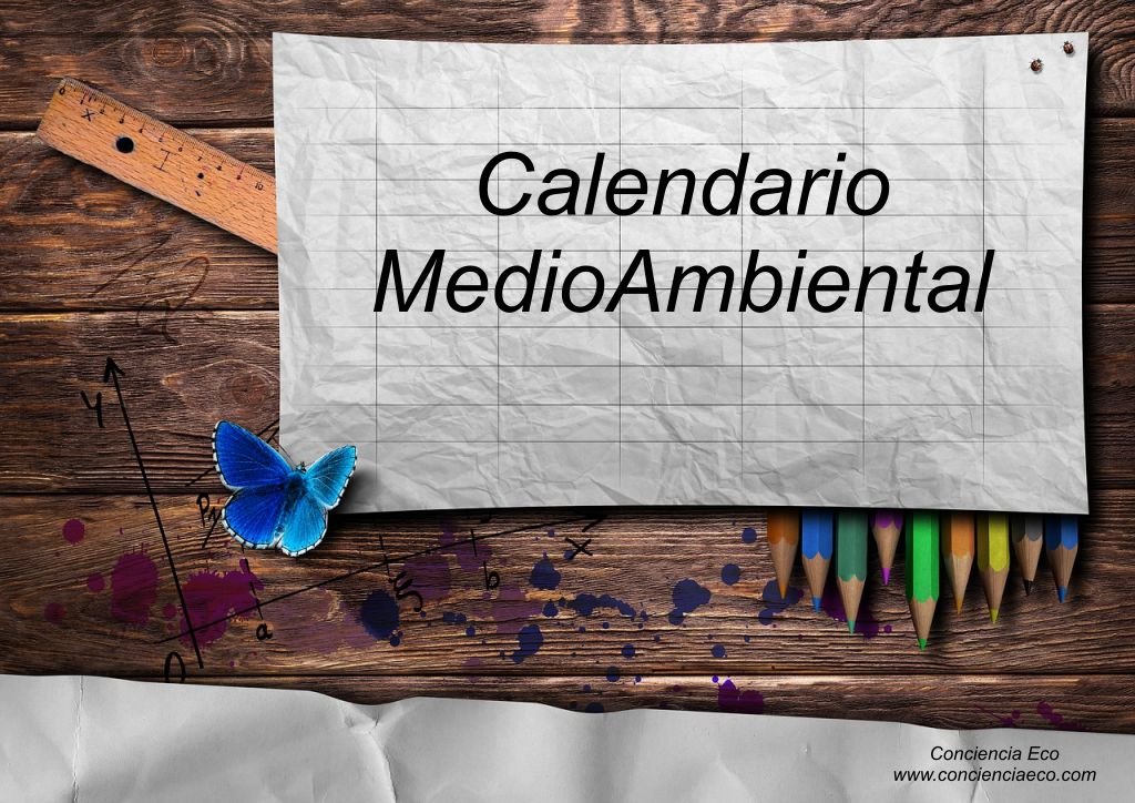 Calendario De Dias Internacionales.Calendario Medioambiental Conciencia Eco