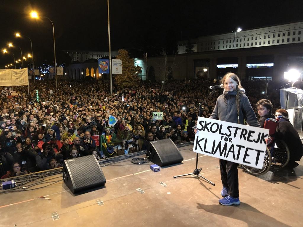 Greta Thunberg en la manifestación Marcha por el Clima de Madrid