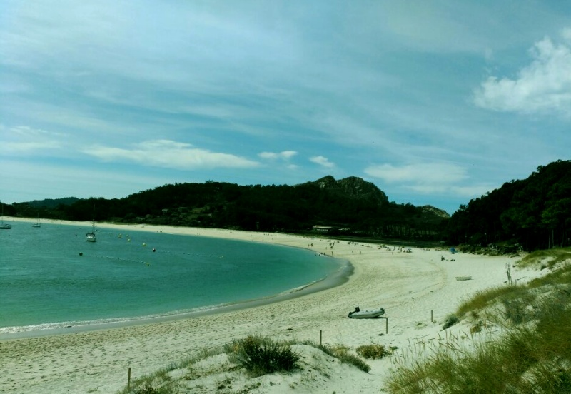 Playa de Rodas en las islas Cíes, Vigo
